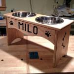 Dog Bowl Holder.  Customized to the height of your dog's breast bone.