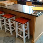 Custom Island Bar Stools.