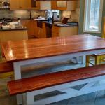 Custom Made Table and Benches.